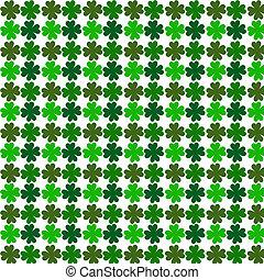 four leaf green shamrock pattern