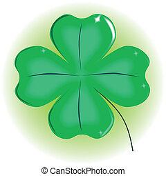 Four Leaf Shamrock - A very lucky green Irish 4 leaf ...