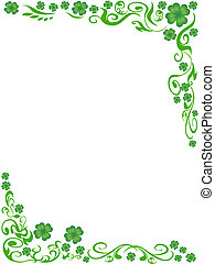four-leaved clover frame background - the background of...