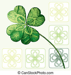 Four-leaved Cloverleaf, Shamrock