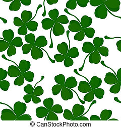 Four leaves clover pattern, background for Saint Patrick Day