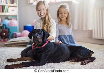 Four legged pet is their best friend