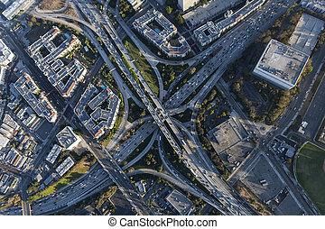 Four Level Hollywood Freeway Interchange in Los Angeles Calfiornia