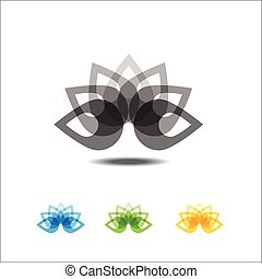 Four lotus icons for design.vector illustration