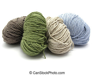 Four lying balls of wool