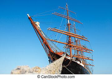 four-master, sailingship, polônia, gdynia, maior
