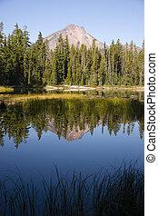 Four Mile Lake Mount McLoughlin Klamath County Oregon Cascade