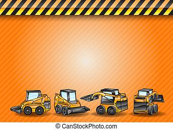 four mini excavator