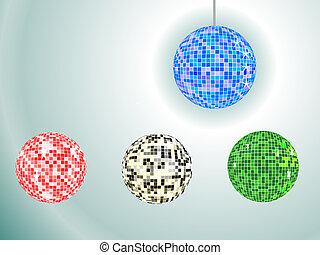 four mirror balls