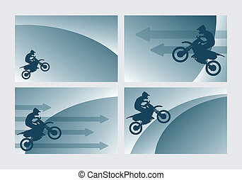 motocross - four motocross background illustrations