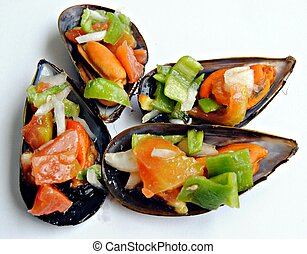 Four mussels