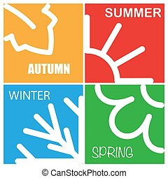 Four nature season patterns