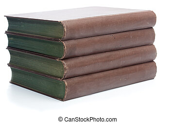 Four old books from the 19th century