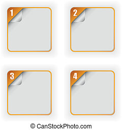 four options template with 3D page