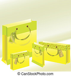 four paper package of yellow color