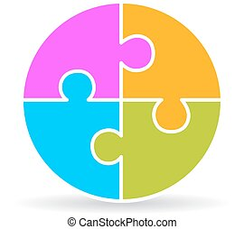 Puzzle wheel diagram clipart vector search illustration drawings four part puzzle diagram ccuart