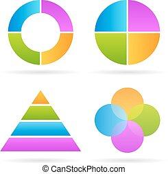 Four parts diagram