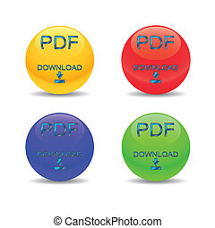 Four pdf download icons
