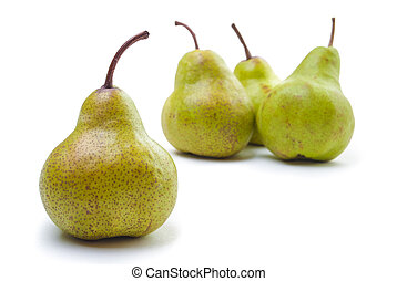 Four Pears isolated on white - Four Pears isolated on a...