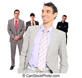 Four people business team