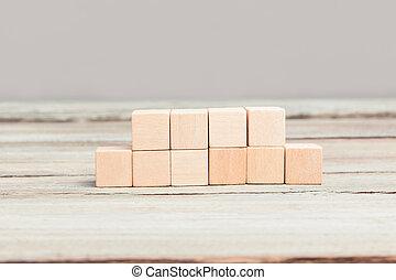 Four plus six blank wood cubes