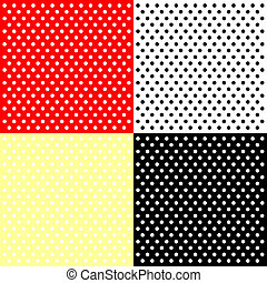 Four polka dots backgrounds