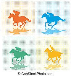 four race horses