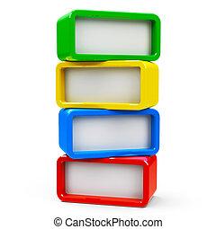 Four rectangle - four steps - Four color rectangle -...