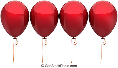 Four red balloons classic