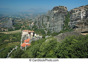 Four rock monasteries at Meteora,Greece