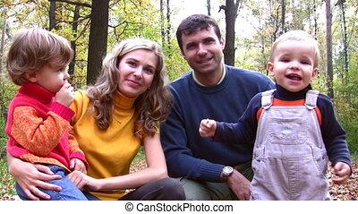 four., rodzina, twarze