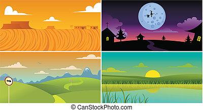 scenery background - four scenery background.
