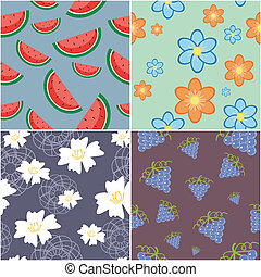 four seamless backgrounds