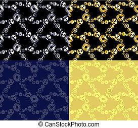 Four seamless gear patterns