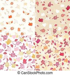 Four seamless patterns