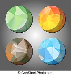 four season abstract polygon rounds