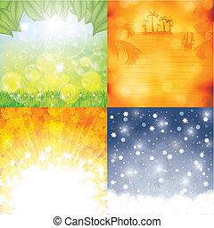 Four season background set