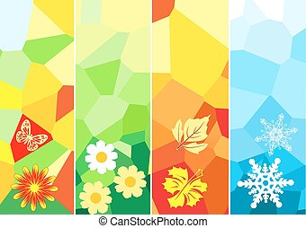 Four season banners for your design