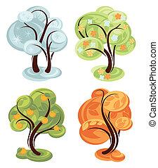 four season simple trees