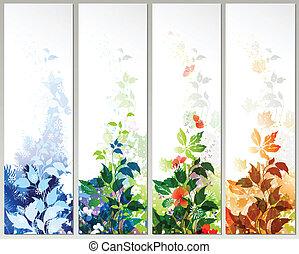 four season - Set of four season banners