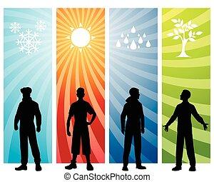 Four seasons background
