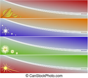 Four seasons banners - Four banners of four seasons in...