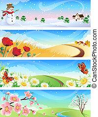 four seasons landscapes