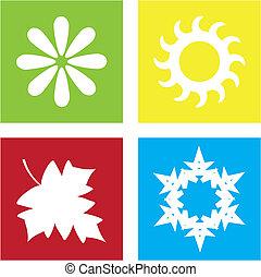Four Seasons - Colorful representation of the four seasons.