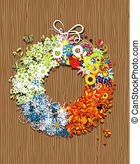 Four seasons frame - spring, summer