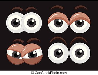 Four set of eyes with different expressions