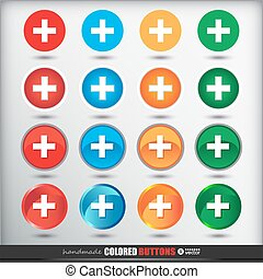 Four sets of four positions of round Colored Button