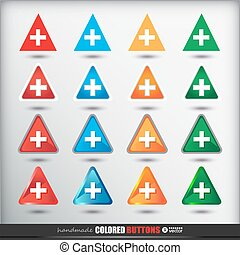 Four sets of four positions of triangle Colored Button