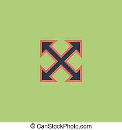 four sides arrow