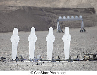 Four silhouette targets